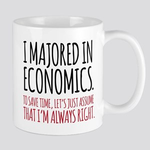 Majored In Economics Mugs